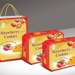 Bánh Cookies nhân mứt túi xách 400gr